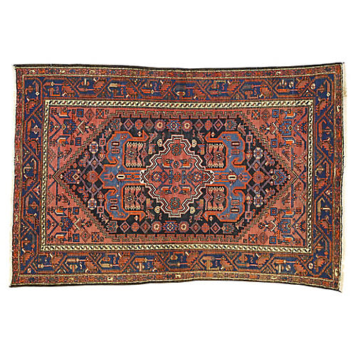 Antique Persian Hamadan Rug, 4'3x6'4