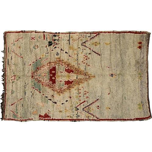 "Moroccan Azilal Rug, 6' x 9'5"""