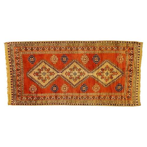 "Orange Moroccan Rug, 5'3"" x 10'4"""