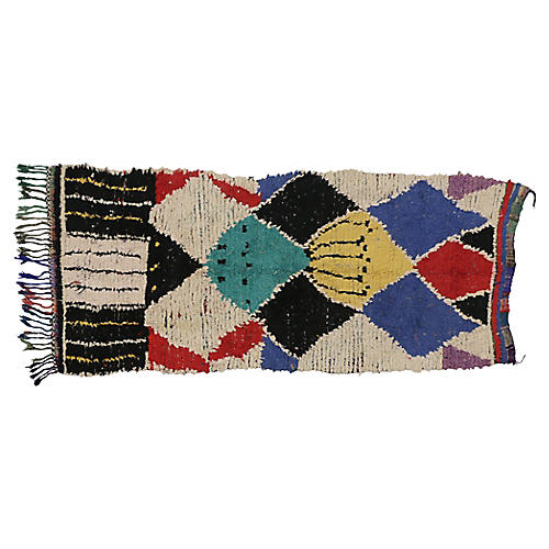 """Berber Moroccan Rug, 3'8"""" x 7'9"""""""