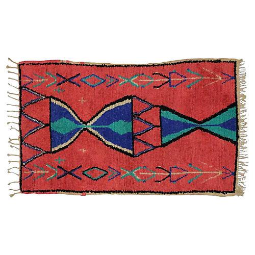 Vintage Berber Moroccan Rug, 3'9 x 6'