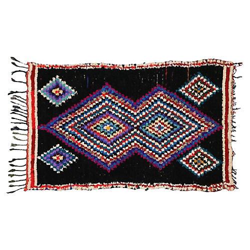 Vintage Berber Moroccan Rug, 4'6 x 7'1