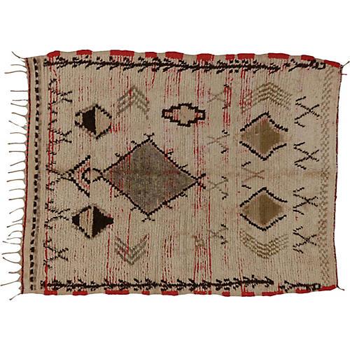 "Moroccan Rug, 3'11"" x 4'10"""