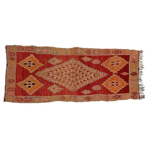 Vintage Berber Moroccan Rug,3'10 x 9'11