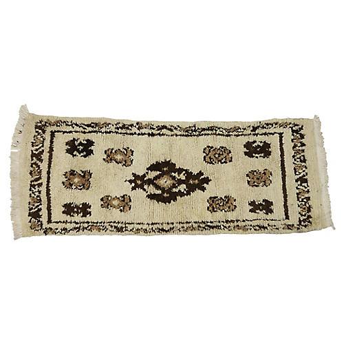 """Berber Moroccan Rug, 2'8"""" x 6'9"""""""