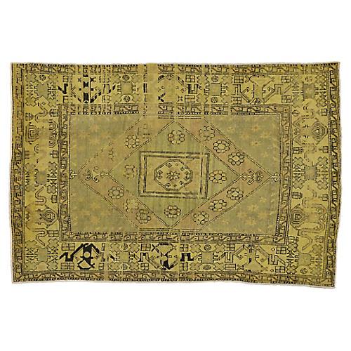 Vintage Turkish Oushak Rug, 5'10 x 8'10