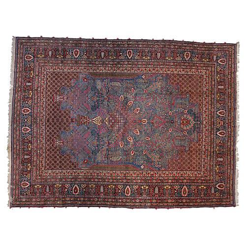 """Persian Teheran Carpet, 10'2"""" x 13'8"""""""