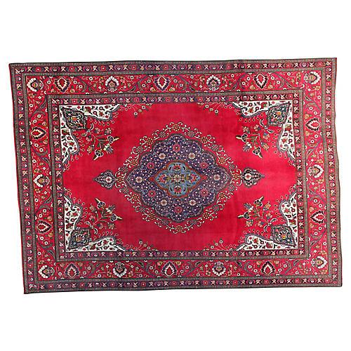 "7'9"" x 11'1"" Vintage Persian Rug"