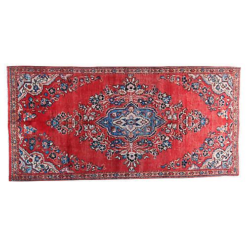 "4'1"" x 8'6"" Vintage Persian Rug"