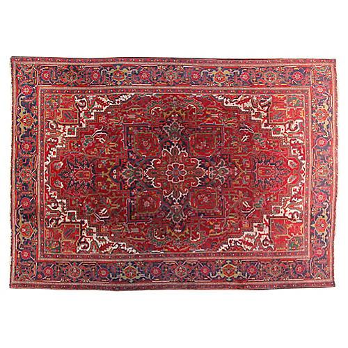 "7'8"" x 11'1"" Vintage Persian Rug"