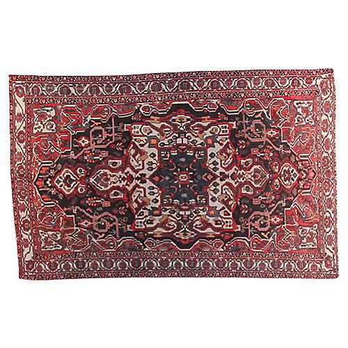 "6'2"" x 9'9"" Vintage Persian Rug"