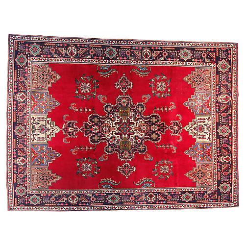"9'5"" x 12'7"" Vintage Persian Rug"
