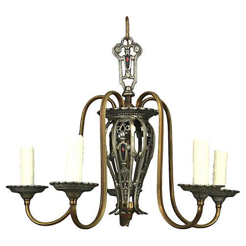 Art Nouveau Style Chandelier