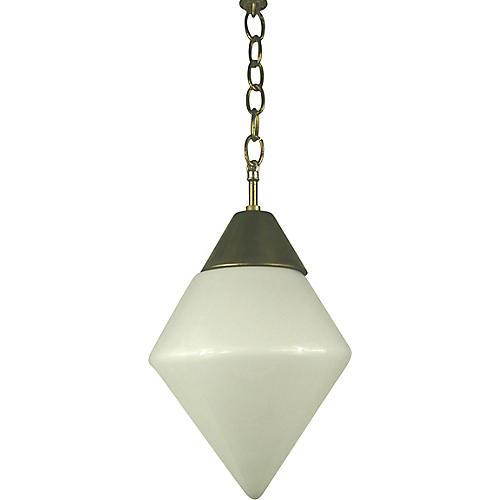 Milk Glass Pendant