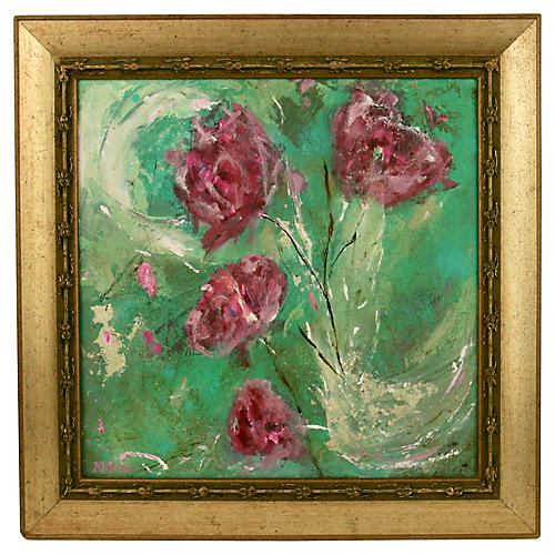 Peonies Abstract