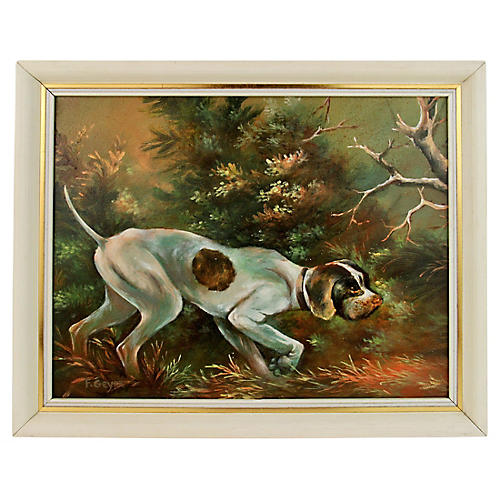 Dog Hunting Painting