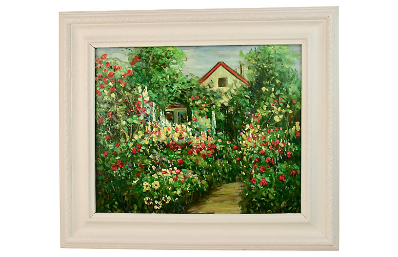 English Rose Garden Landscape