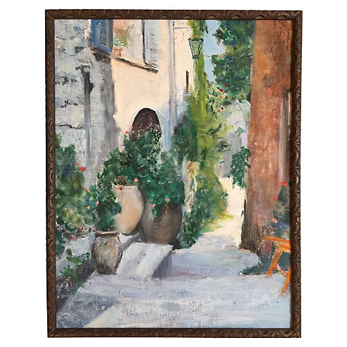 French Garden Oil Painting