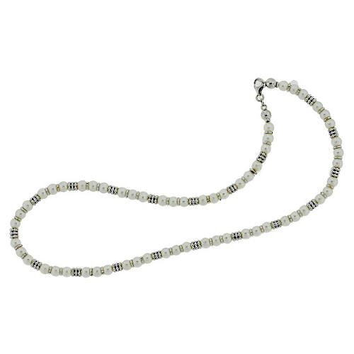 14K White Gold & Pearl Necklace