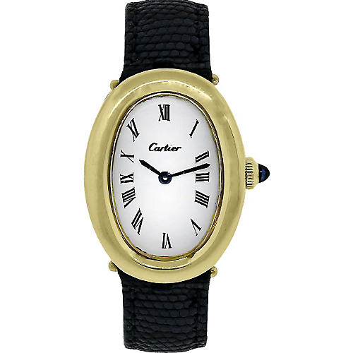 Cartier Baignoire 18K Gold Watch
