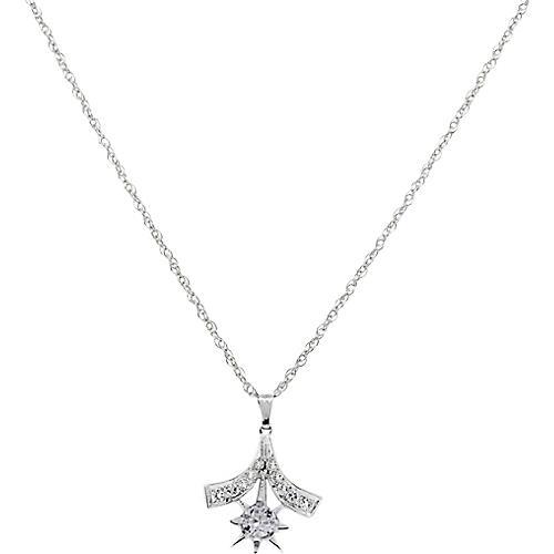 White Gold Diamond Vintage Necklace