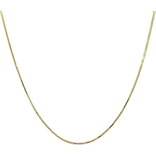 """14K Gold Snake Chain Necklace, 24"""""""