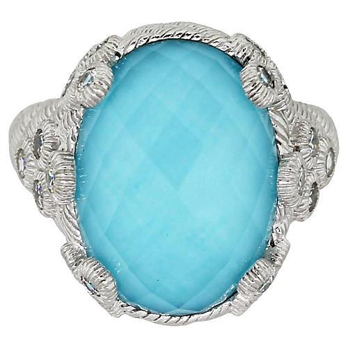 Judith Ripka Turquoise Doublet Ring