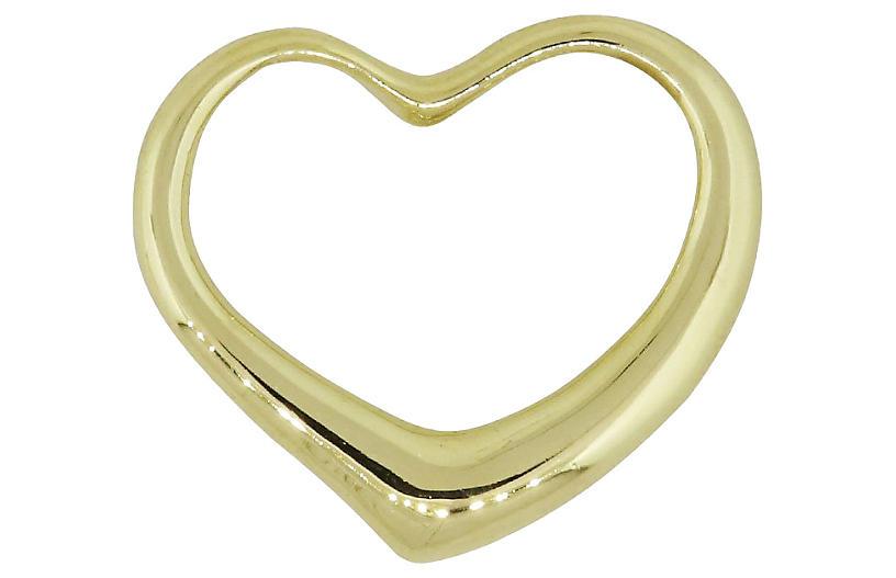 Gold, Open Center Heart Pendant