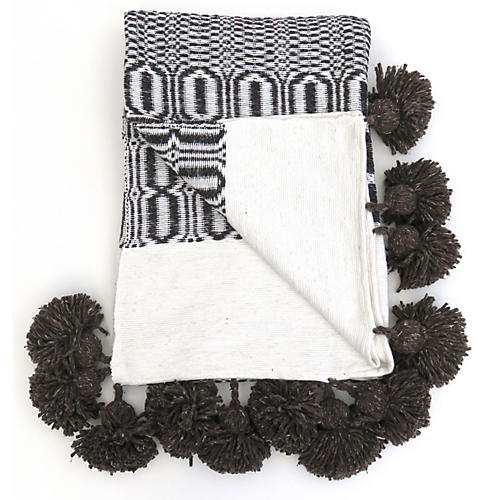 Moroccan Woven Cotton Blanket