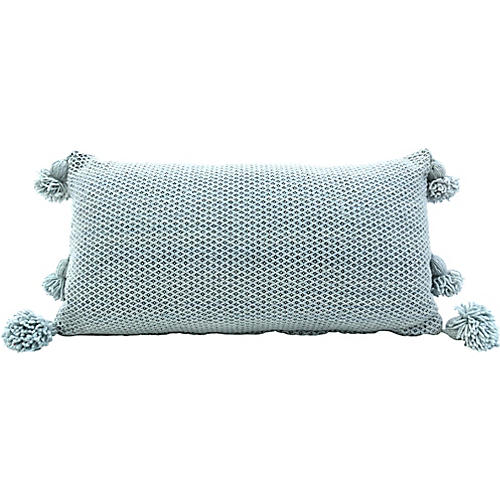 Moroccan Wool Pom Pillow