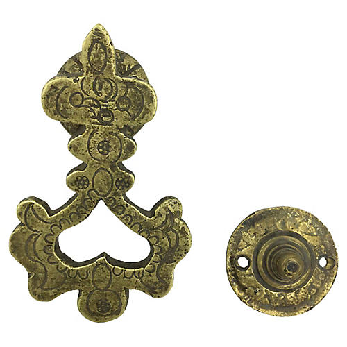 Arabesque-Style Brass Door Knocker