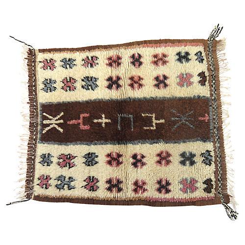 "Moroccan Taznakht Rug, 2'6"" x 3'6"""