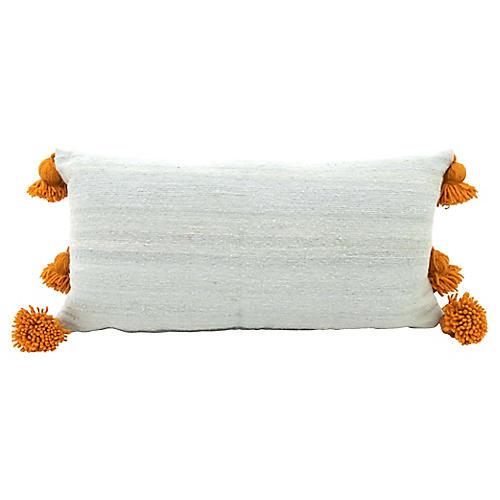 Silver & Gold Wool Lumbar Pillow