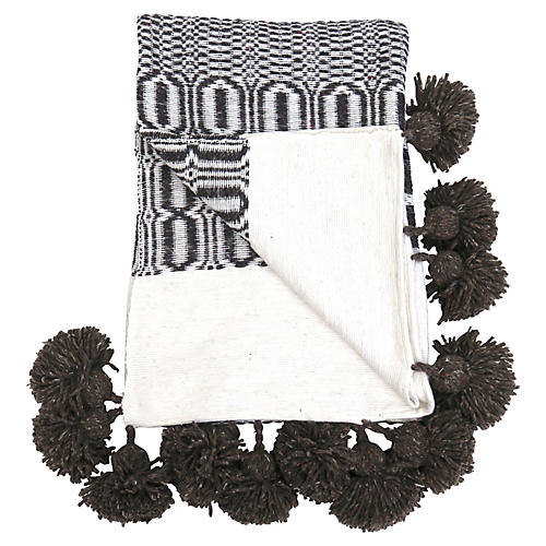 Organic Cotton Handwoven Throw Blanket