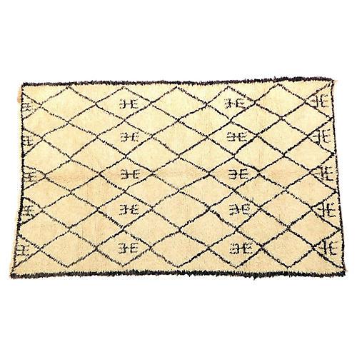 """Moroccan Beni Ourain Rug, 5'9"""" x 9'2"""""""