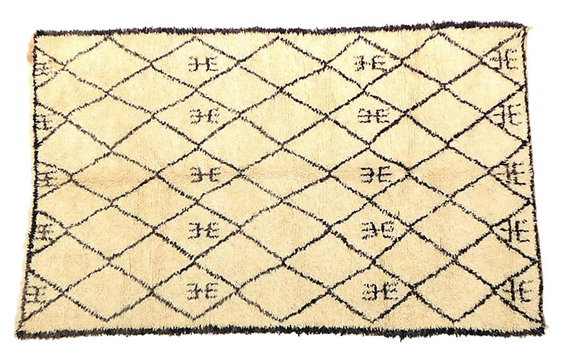 Moroccan Beni Ourain Rug, 5'9