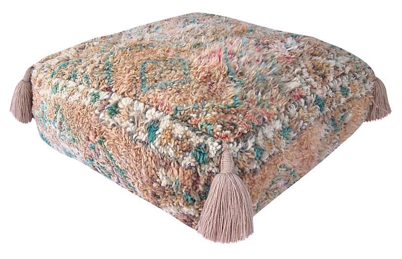 Berber Honey Wool Pouf