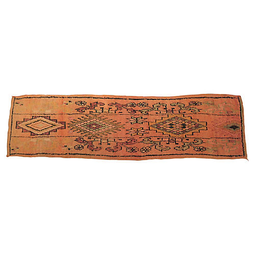 Vintage Apricot Moroccan Runner