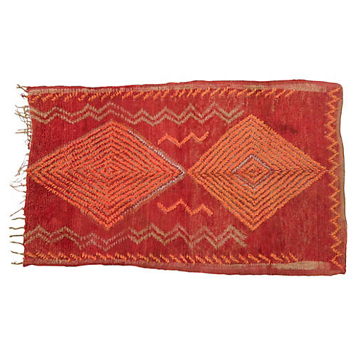 Vintage Red and Orange Rug