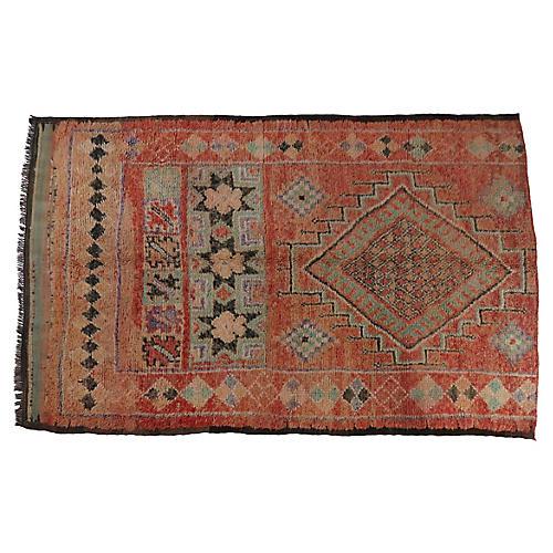 Vintage Terracotta Boujad Rug
