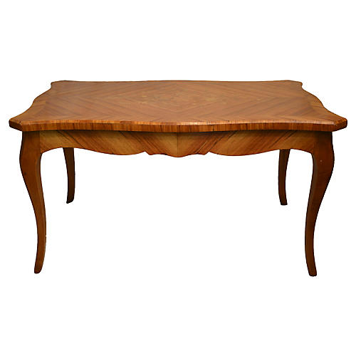 French Satinwood Table w/ Marquetry