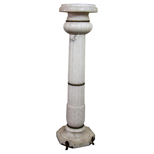 19th-C. Marble Pedestal