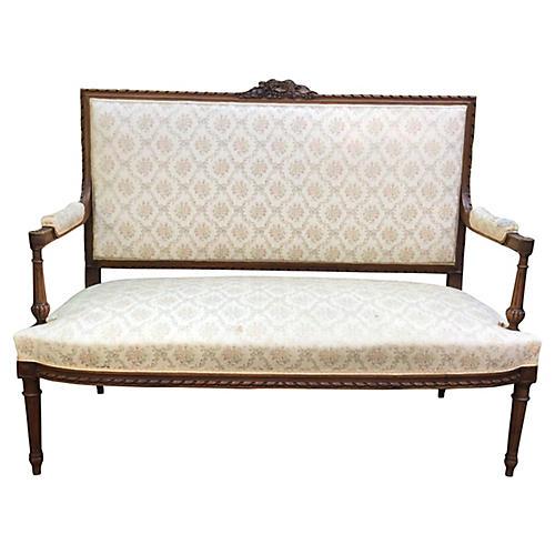 19th-C. Louis XVI-Style Settee