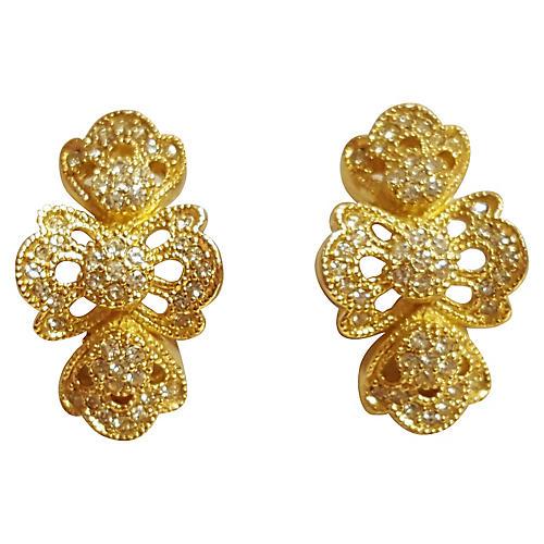 Christian Dior Crystal Earrings