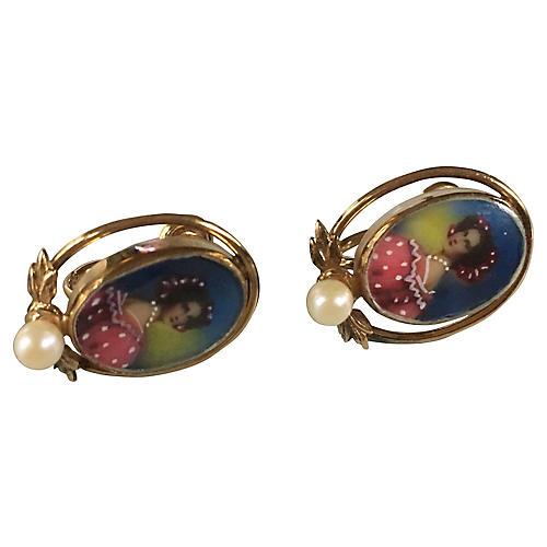 Portrait Pearl Earrings