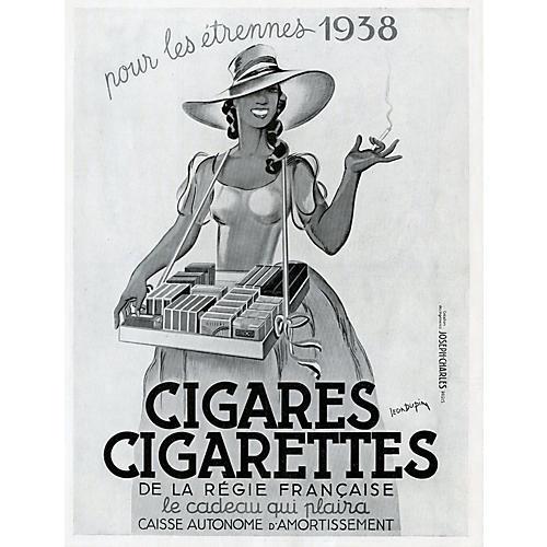 French Cigar & Cigarette Ad, 1938