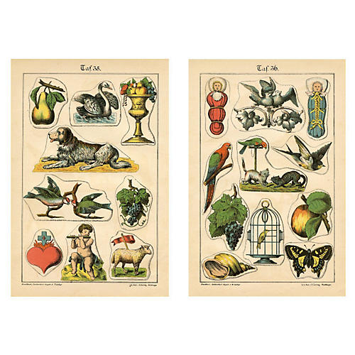 19th-C. Cake Decorating Prints, Pair