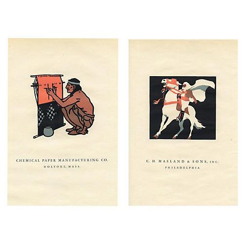 American Trademark Prints, Pair