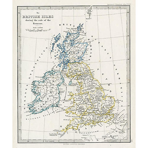 Map of the British Isles, Roman Times