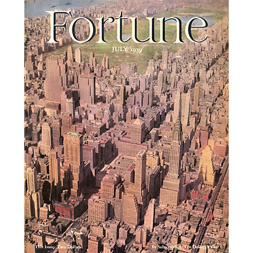 Fortune Cover - NYC Skyline, 1939